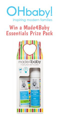 a Essentials Prize Pack from OHbaby! Modern Family, Free Samples, Natural Skin Care, Giveaway, Competition, Essentials, Packing, Baby, Bag Packaging