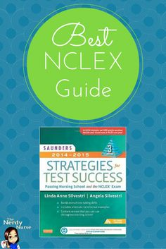 Nursing Students MUST know how to answer NCLEX questions in order to pass the boards. They just don't teach you all the strategies to do this in nursing school. The Best NCLEX Guide is Saunders Strategies for Test Success!  It helped me pass the NCLEX with 75 questions on the 1st attempt! http://thenerdynurse.com/2014/02/best-nclex-guide-saunders-strategies-for-test-success-passing-nursing-school-and-the-nclex-exam.html