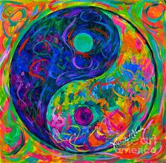 Yin Yang Party by Kendall Kessler Tao Te Ching, The Mindy Project, Soothing Colors, Color Of Life, Yin Yang, Kendall, Fine Art America, Framed Prints, Tapestry