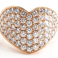 The huge diamond heart set in shining yellow gold is nothing short of spectacular. Gold Heart Ring, Diamond Heart, Heart Rings, Heart Engagement Rings, Family Jewels, Diamonds And Gold, Chopard, Cocktail Rings, Vintage Rings