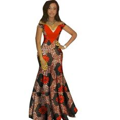 African Clothing For Women Dashiki Bazin V-Neck Long Dress Cotton Print Custom Made – African Fashion Dresses - African Styles for Ladies African Dashiki Dress, Long African Dresses, Latest African Fashion Dresses, African Print Dresses, African Print Fashion, Africa Fashion, Ankara Dress, African Traditional Dresses, African Attire
