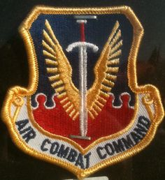 USAF US Air Force Air Combat Command MILITARY PATCH Embroidered