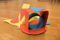 Today my three and four year old artists learned a new word – three dimensional! We talked about what a sculpture is – a work of art that is not flat, but instead is tall, wide and deep…