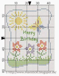 maxi stickt freebies - Happy Birthday.