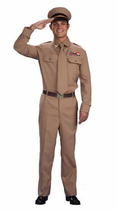Forum Novelties Mens World War II General Costume Brown Standard -- Click image to review more details.