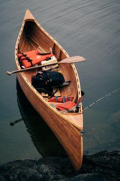 Canoes, Kayaks & Rowboats   Wood canoe ready to go