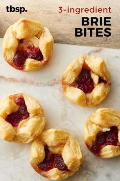Flaky puff pastry, creamy brie and tart cranberries—three ingredients are all . Flaky puff pastry, creamy brie and tart cranberries—three ingredients are all you need to pull to Brie Puff Pastry, Puff Pastry Appetizers, Brie Appetizer, Fancy Appetizers, Thanksgiving Appetizers, Holiday Appetizers, Thanksgiving Recipes, Appetizer Recipes, Holiday Recipes