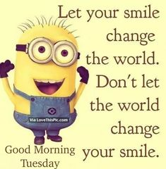 Good Morning Tuesday Funny Minion Pictures, Funny Minion Memes, Minions Quotes, Minion Sayings, Minion Humor, Funny Humor, Funny Pics, Hilarious, Citation Minion