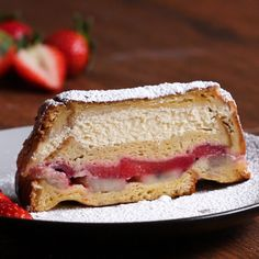 Stuffed French Toast Loaf Recipe by Tasty. this would be good with blueberries or blackberries Breakfast And Brunch, Breakfast Dishes, Breakfast Recipes, Breakfast Casserole, Tasty Videos, Food Videos, Brunch Recipes, Dessert Recipes, Dinner Recipes