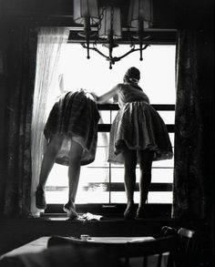 Window cleaners, Fred Stein, 1961