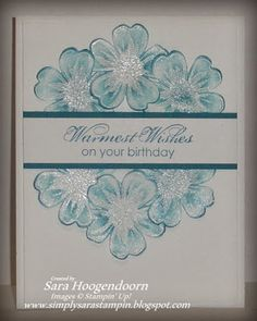 Simply Sara Stampin': Freshly Made Flower Shop Birthday Cards For Women, Women Birthday, Flower Stamp, Flower Cards, Scrapbook Cards, Stampin Up, Pretty Cards, Cute Cards, Diy Cards