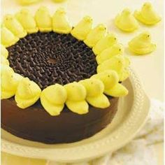Peeps Sunflower Cake Recipe - Had to pin this one 'cause of my love for sunflowers!