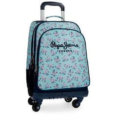 Pepe Jeans Denise Mochila Escolar, 30.49 litros, 44 cm, Azul: Amazon.es: Ropa y accesorios Mochila Trolley, Suitcase, Totes, Travel Cosmetic Bags, Blue, Briefcase