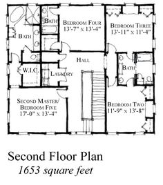 Country Historic House Plan 73854 Level Two
