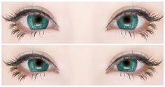 Korean Big Eye Circle Lenses: Korean Skin Care & Makeup - More in www.uniqso.com: Neko Look with Dangan Ronpa Wig & I-Codi No 23 Turquoise Lenses