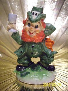 VTG Lefton March St. Patrick's Birth Day Irish Leprechaun Pixie Elf Figurine