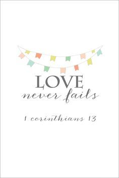 Love Never Fails Free Printable | Print and frame for DIY wall art! | onsuttonplace.com
