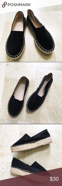 Wild Diva Lounge Black Espadrille Flats These are gently used Wild Diva Lounge Black Espadrille Flats. In excellent condition. Shows some wear on bottom. Wild Diva Shoes Espadrilles