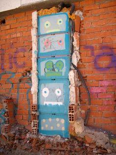 Creative street art in Salamanca, Spain
