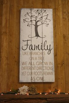 Family Like Branches On A Tree Wood Sign Pallet Sign Family Photo Wall Decor Shabby Chic Wall Decor Rustic Sign Wallhanging Handmade