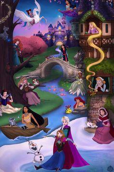 Princess Collage by Miss-Melis on DeviantArt - Disney princess wallpaper - Disney Pixar, All Disney Princesses, Disney Princess Drawings, Disney Princess Art, Disney Fan Art, Disney Fun, Disney Drawings, Disney And Dreamworks, Disney Magic