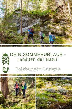 Sommerurlaub 1.000 m Seehöhe über dem Alltag. Kinder erleben hier oben die Natur als den besten aller Abenteuerspielplätze und die Eltern können 1.000 m über dem Alltag endlich abschalten. Viele Wanderrouten, wunderschöne Zauberwälder und schillernde Bergseen befreien hier vom sonst so stressigen Alltag. Ein Urlaub ganz im Zeichen von Echt.Sein. - Urlaub der erdet im Salzburger Lungau! Daily Routine Kids, Magic Forest, Summer Vacations, Playground, Parents, Adventure