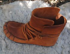 Size 38 EU, Womens Moccasin wrap ankle boots, soft spanish leather, handmade with love, these boots are stylish comfortable and healthy.