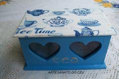 Porta Chá Azul Tea - R$ 25,00 Cod. PFCO 128