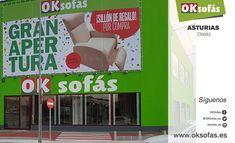 #oksofásasturias, uno de los puntos de venta #OKSofás más grandes de España, está a punto de abrir sus puertas.  #OKSofás #oksofásasturias #nuevatiendaoksofás #decoración #decor #descanso #relax # espectáculo