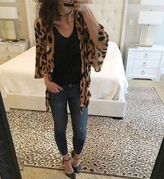 You won't believe it! I was able to get my hands on a few more of these darling leopard cardigan shawls! One of my fav things in my closet by far #restocked #leopardprint