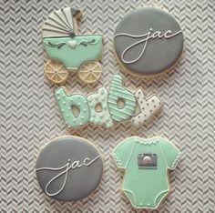 Client sugar cookies for Galletas Decoradas Baby Shower, Galletas Cookies, Iced Cookies, Cute Cookies, Cupcake Cookies, Sugar Cookies, Cupcakes, Idee Baby Shower, Baby Boy Shower