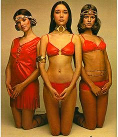 1970s jcpenney ad. Ethnic swimwear