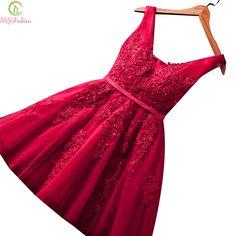 Ssyfashion cocktail curto sexy vestidos de noiva banquete vinho laço vermelho backless festa formal dress prom dress robe de soiree