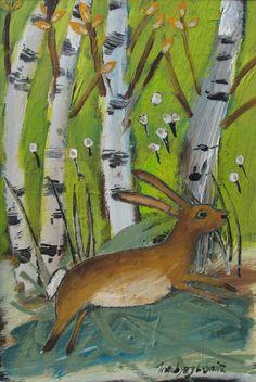 Darryl Nantais Gallery, Ingeborg Smith Hare, Rabbits, Bunnies, Gallery, Artist, Painting, Animals, Illustrations, Drawings