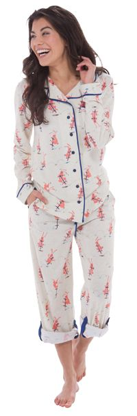 "Munki Munki ""Heather Pogo Bunnies"" Cotton Jersey Classic Pajama Set $94 - SHOP http://www.thepajamacompany.com/store/munki-munki-heather-pogo-bunnies-cotton-jersey-classic-pajama-set.html?category_id=7281"