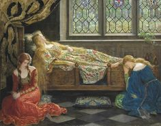 John Maler Collier –  Sleeping  Beauty (1929)