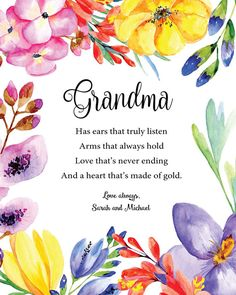 Personalized Grandma Gift - Grandmother Custom Gift - Gift for Nana - Mother's Day Gift - Special Gr Grandma Gifts, My Favorite Part, Customized Gifts, Life Lessons, Handmade Gifts, Poetry, Messages, Thoughts, Music