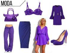 """O violeta é uma cor de forte presença, por isso, """"acende"""" com qualquer outra cor com a qual você combiná-lo - inclusive, aos tons neutros. MATÉRIA COMPLETA NO SITE , CLIQUE E ARRASE NO LOOK  #moda #modafeminina"""