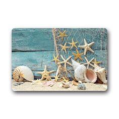 Fantastic Doormat Sea Beach Starfish on Fishing Net Door ...