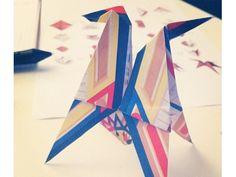 Origami con papeles inspirados en Hermés