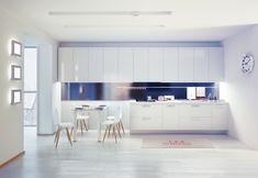 Sleek + Hyper-Functional: Kitchen and Bath Trends Modern Kitchen Interiors, Interior Design Kitchen, Interior Modern, Discount Kitchen Cabinets, Low Cost, Bath Trends, Interiors Magazine, Functional Kitchen, White Kitchens