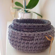 Nesting baskets #nordico #crochet #moderncrochet #pipeyarn #homewaresmelbourne #madeinmelbourne #handmade #crochetbasket