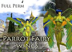 Parrot Fairy Animated Wings - Full Perm - with Textures Included