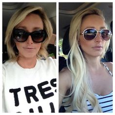 Hair extensions before and after | Glam Seamless Hair Extensions