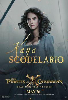 Kaya Scodelario as Carina Smyth   Starring Johnny Depp, Geoffrey Rush, Javier Bardem, Orlando Bloom   Action, Adventure, Comedy