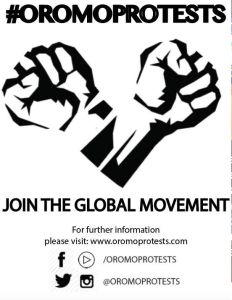 #OromoProtests against the Ethiopian regime fascist tyranny. Join the peaceful movement for justice, democracy, development and freedom of Oromo and other oppressed people in Ethiopia
