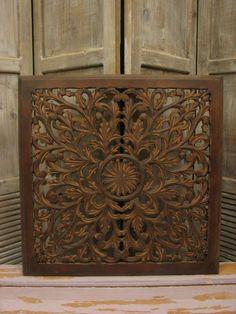 Houten wandpaneel Varadero burned brown 60 x 60 cm