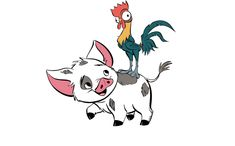 Pua and Heihei, Moana's pet pig and rooster
