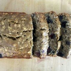 Low-Fat Oatmeal Blueberry Banana Bread  This healthy banana bread is low in fat and calls for blueberries instead of chocolate chips to boost antioxidant intake and dramatically cut calories.