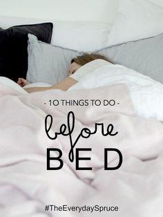 lapinblu | 10 things to do before bed #theeverydayspruce @heatheryoungUK & @SarahLou Francis\\LapinBlu